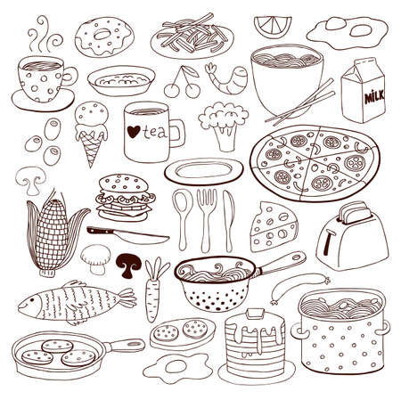 ware: Meal and ware doodle set