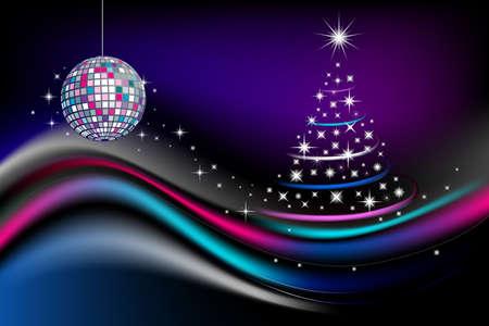 Disco new year celebration
