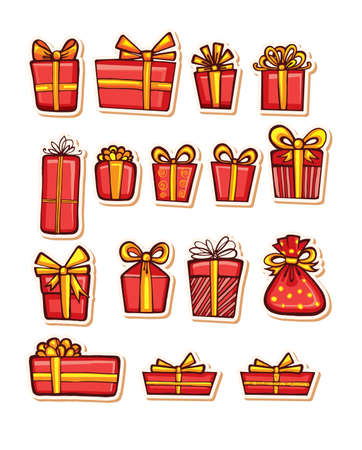 wrap wrapped: Vector illustrations of Gifts