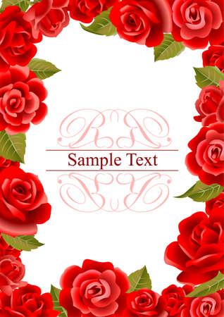Frame da rose rosse Archivio Fotografico - 40997900