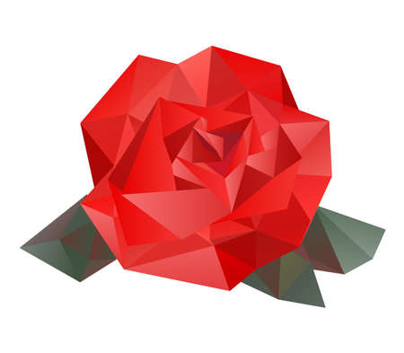 arts abstract: Geometric vector rose