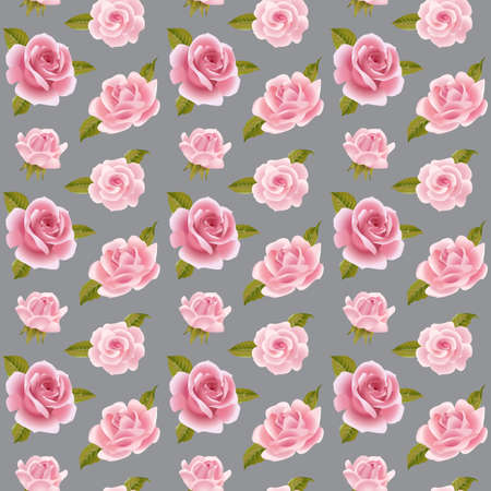 english rose: Seamless background with pink roses.