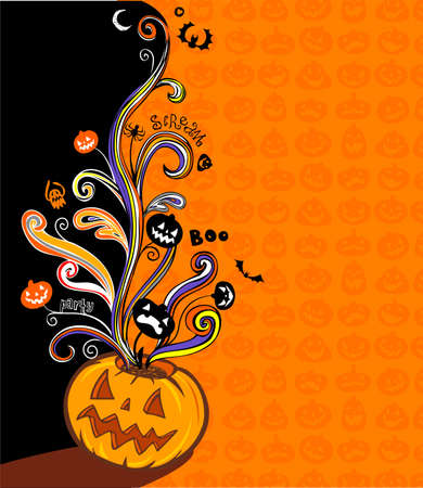haunted: Halloween illustration for banner and invite card Illustration