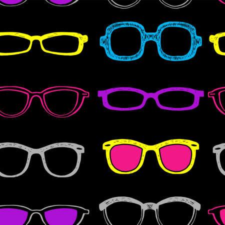 검은 색 안경테와 원활한 배경