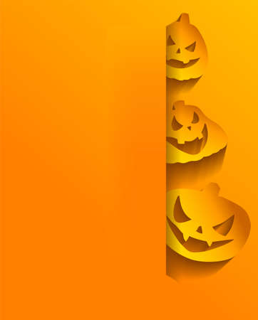 halloween background: Vector Halloween background with stickers for Halloween Illustration