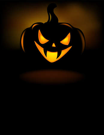 grinning: Grinning Halloween lantern vector illustration. Illustration