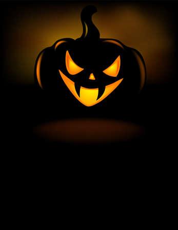 grinning: Grinning Halloween lantern vector illustration. Illustration