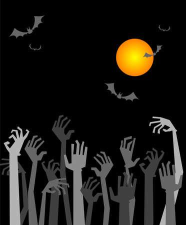 calabaza caricatura: Tarjeta de felicitación de Halloween o invitación del partido Vectores