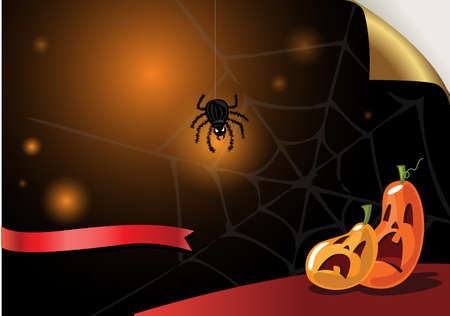 cartoon quiet: Halloween background for greeting card or Party Invitation