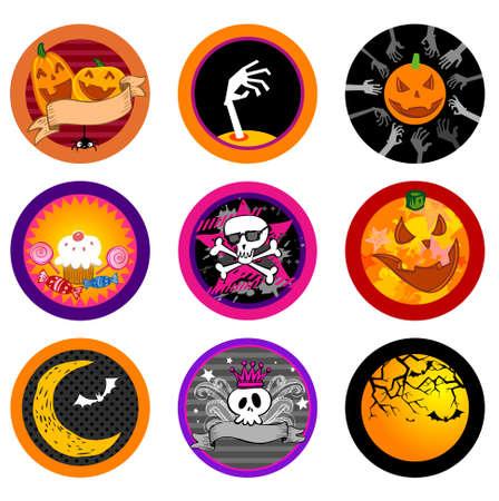 hallooween: Hallooween Vector drink coasters for any party.
