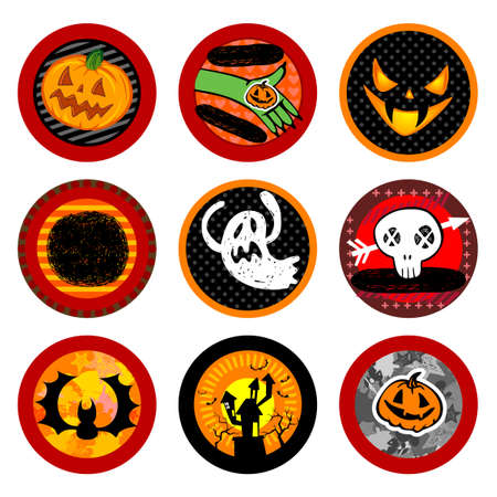 beer house: Hallooween Vector drink coasters for any party.