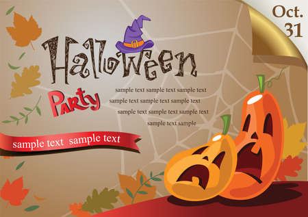 Halloween background for greeting card or Party Invitation
