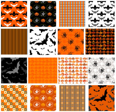 seamless background: Seamless Halloween patterns for any holiday design.