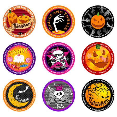whitch: Hallooween Vector drink coasters for any party.