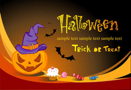 spook: Halloween illustration for banners and invite cards Illustration