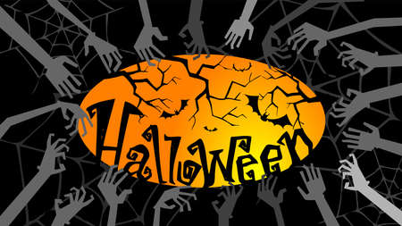 spook: Halloween greeting card or Party Invitation Illustration