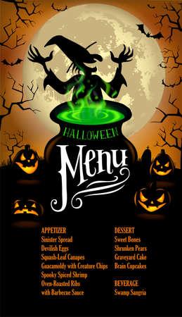 boils: Halloween Menu Template in vector format