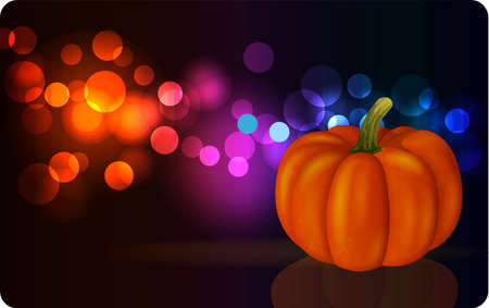 Festive background with pumpkin for Halloween or Thanksgiving Day, a vectorial format
