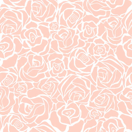 vintage floral pattern: Seamless background with pink roses