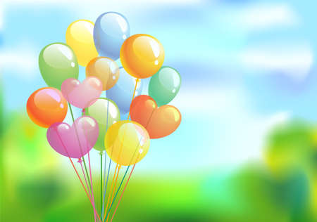birthday celebration: Bright festive background