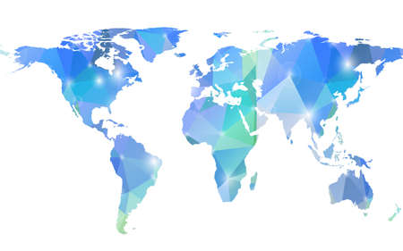 Modern background with Earth map