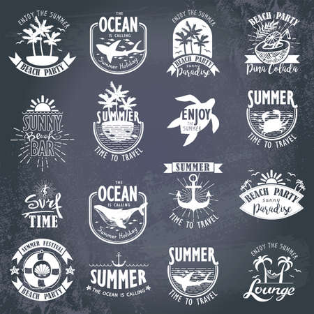 graphics design: Summer Designs on Tropical Beach Background Illustration