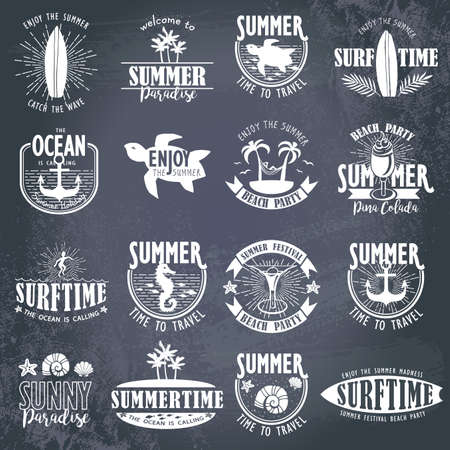 Summer Designs on Tropical Beach Background Illustration