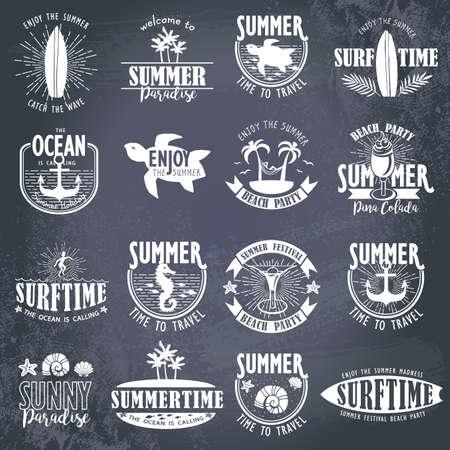 Sommer-Designs auf tropischen Strand Hintergrund
