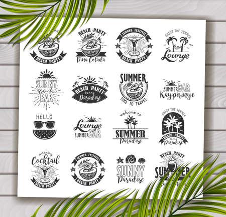 background designs: Summer Designs on Tropical Beach Background Illustration