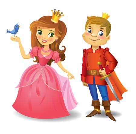 Beautiful princess and prince