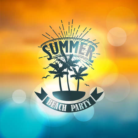 Banner for summer beach party