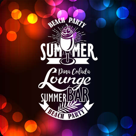 Banner for night summer beach party Illustration