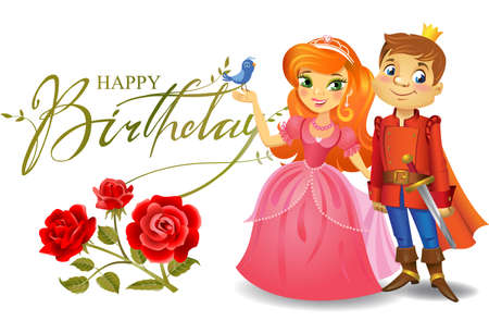 defender: Happy Birthday, Princess and Prince, greeting card.