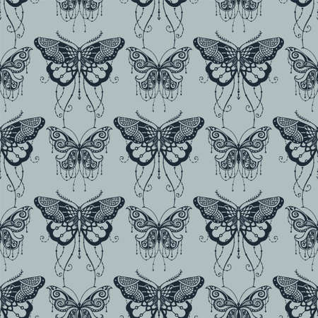 Seamless background with butterflyes