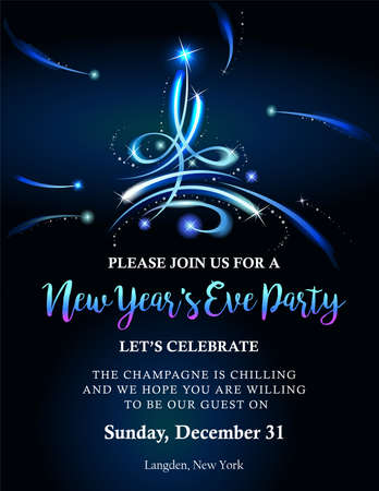 88833548 new year party invitation