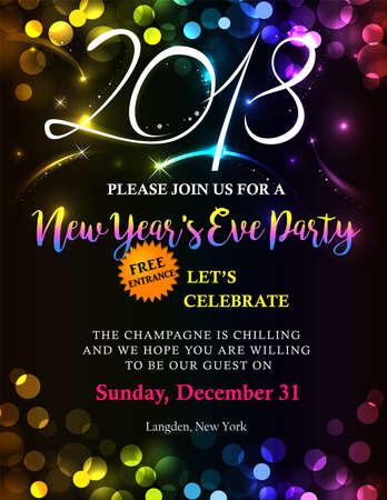 New Year 2018 invitation