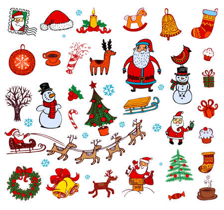 Hand drawn symbols for banners, backgrounds, presentations, decorations. All pieces are separate