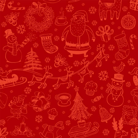 Christmas elements pattern.