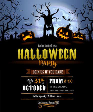 Halloween silhouette invitation