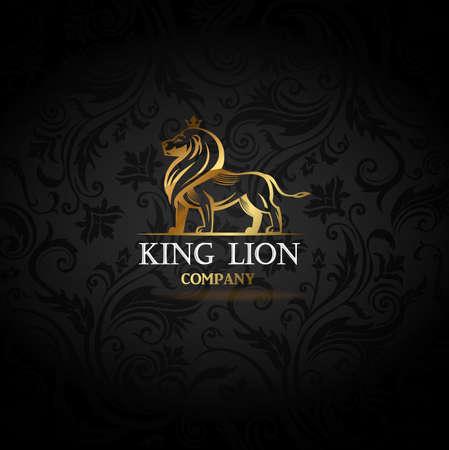 Emblem with golden Lion