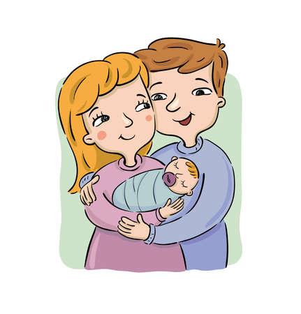 Treffen mit dem Neugeborenen