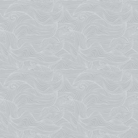Abstract seamless patter with waves -universal neutral grey background for any project