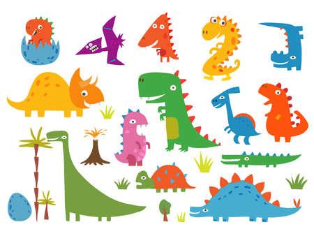 Cartoon funny dinosaurs