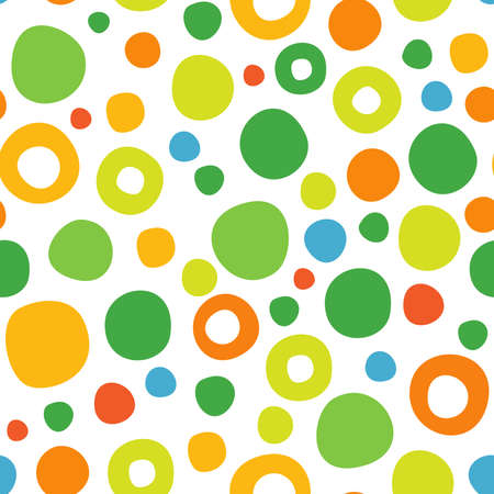 Cute abstract seamless pattern of circles will be suitable for any project