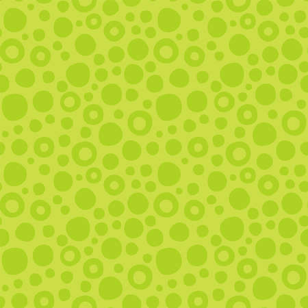 Cute abstract green seamless pattern of circles will be suitable for any project