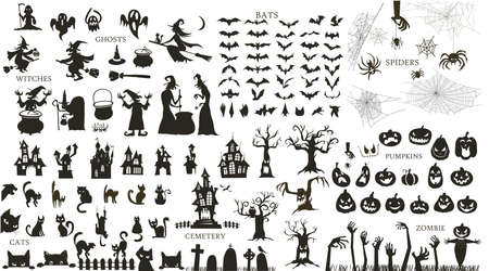 Collection of a Halloween silhouettes