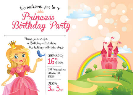 Invitation to Princess Birthday Party