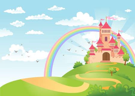 Fairy Tale castle. Vettoriali