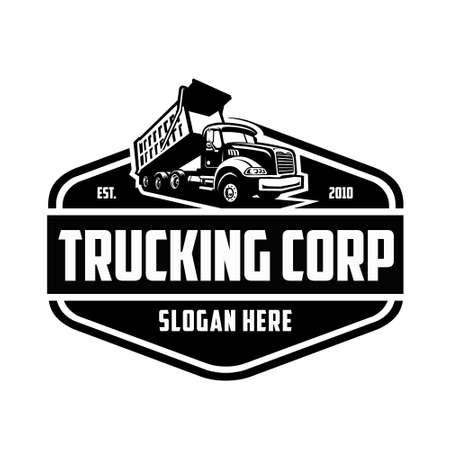 Trucking logo design vector isolated illustration