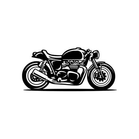 Cafe racer motor bike vector isolated Vektorové ilustrace